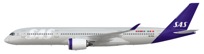 SAS A350 in 2019 Livery